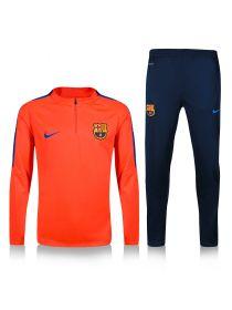 Спортивный костюм оранжевый с темно-синим Барселона