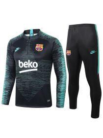 Спортивный костюм черно-мятный Барселона