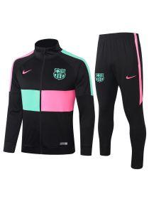 Спортивный костюм черно-розово-зеленый Барселона с молнией