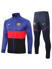 Спортивный костюм сине-красно-черный Барселона с молнией