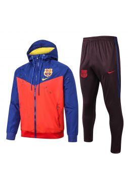 Спортивный костюм красно-сине-черный Барселона с капюшоном