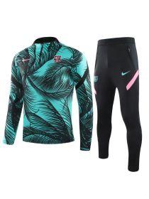 Спортивный костюм зелено-черно-розовый Барселона