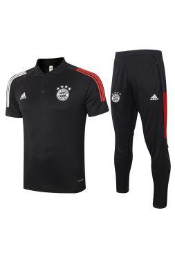 Мужской тренировочный костюм черный ФК Бавария Мюнхен с поло