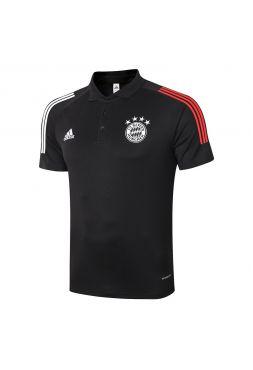 Мужское спортивное поло черное ФК Бавария Мюнхен