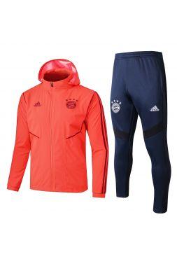 Спортивный костюм оранжево-темно-синий Бавария Мюнхен с капюшоном