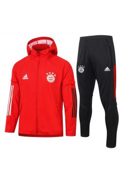 Мужской спортивный костюм красно-черный ФК Бавария Мюнхен с капюшоном