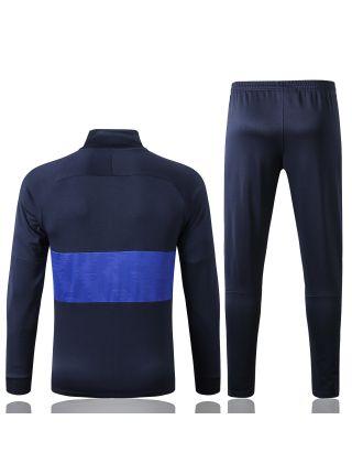 Спортивный костюм темно-синий с синими полосами Челси с молнией