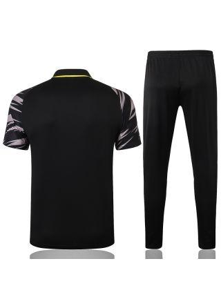 Мужской тренировочный костюм черно-серый ФК Боруссия Дортмунд с поло