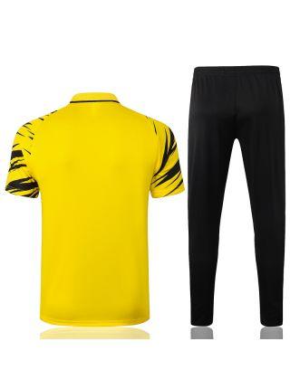 Мужской тренировочный костюм желто-черный ФК Боруссия Дортмунд с поло