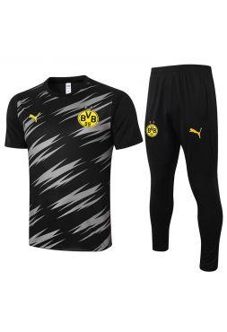 Мужской тренировочный костюм черно-серый ФК Боруссия Дортмунд