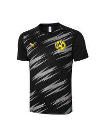 Мужская спортивная футболка черно-серая ФК Боруссия Дортмунд