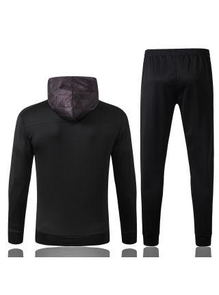 Спортивный костюм черный Боруссия Дортмунд с капюшоном