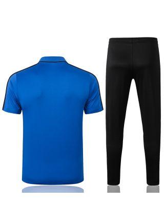 Мужской тренировочный костюм сине-черный ФК Интер Милан с поло
