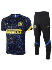 Мужской тренировочный костюм черно-синий ФК Интер Милан