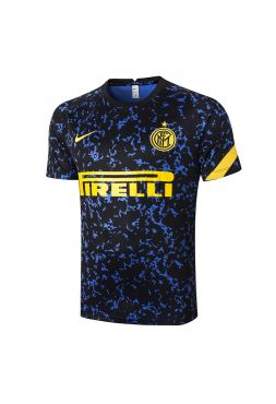 Мужская спортивная футболка черно-синяя ФК Интер Милан