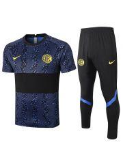 Мужской тренировочный костюм сине-черный ФК Интер Милан