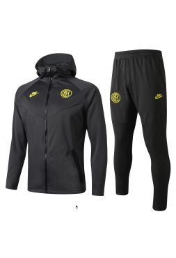 Спортивный костюм черный Интер Милан с капюшоном