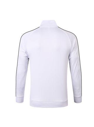 Мужская спортивная олимпийка белая с черной полосой ФК Ювентус