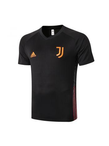 Мужская спортивная футболка черно-оранжевая ФК Ювентус