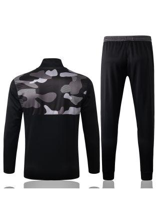 Спортивный костюм черно-серый Ювентус с молнией