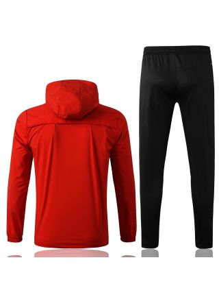 Спортивный костюм красно-черный Ювентус с капюшоном
