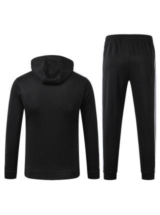 Спортивный костюм черный Ювентус с капюшоном