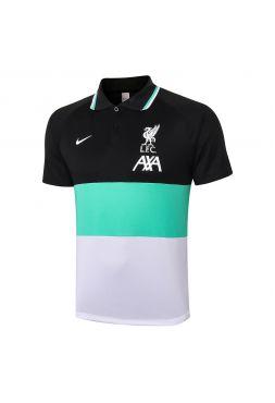 Мужское спортивное поло трехцветное ФК Ливерпуль
