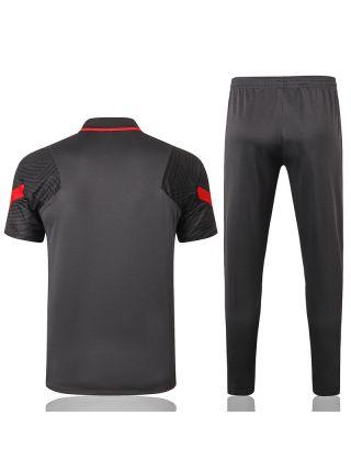 Мужской тренировочный костюм темно-серый ФК Ливерпуль с поло