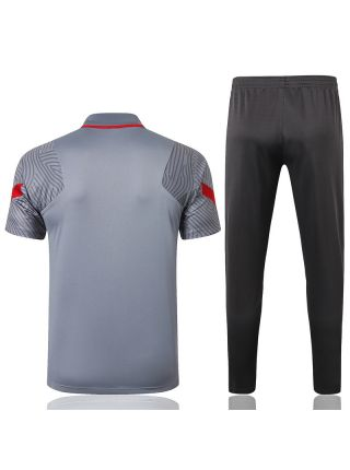 Мужской тренировочный костюм серый ФК Ливерпуль с поло