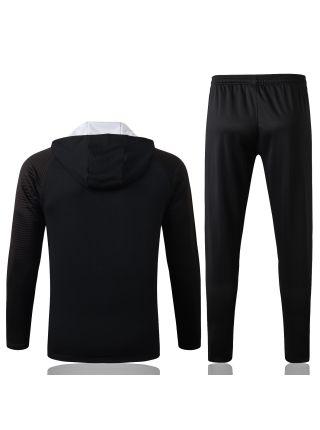 Спортивный костюм черный Ливерпуль с капюшоном