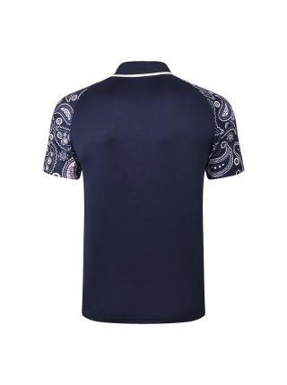 Мужское спортивное поло темно-синее ФК Манчестер Сити