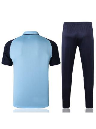 Мужской тренировочный костюм голубо-синий ФК Манчестер Сити с поло