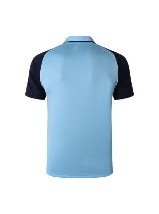 Мужское спортивное поло голубо-синее ФК Манчестер Сити