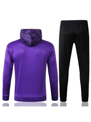 Спортивный костюм фиолетово-черный Манчестер Сити с капюшоном