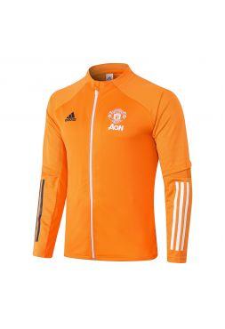 Мужская спортивная олимпийка оранжевая ФК Манчестер Юнайтед