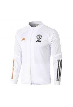 Мужская спортивная олимпийка белая ФК Манчестер Юнайтед