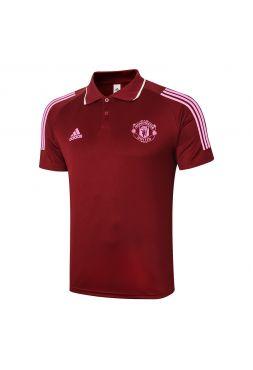 Мужское спортивное поло бордовое ФК Манчестер Юнайтед
