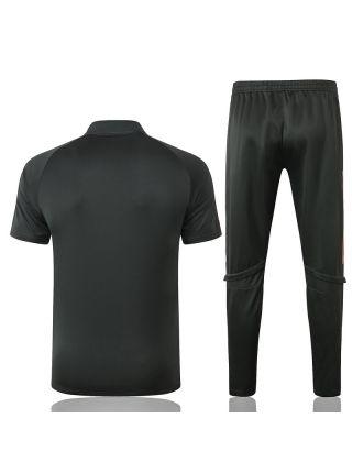 Мужской тренировочный костюм хаки ФК Манчестер Юнайтед с поло
