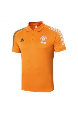 Мужское спортивное поло оранжевое ФК Манчестер Юнайтед