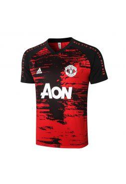 Мужская спортивная футболка черно-красная ФК Манчестер Юнайтед