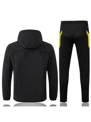 Спортивный костюм черный Манчестер Юнайтед с капюшоном