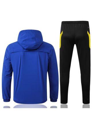 Спортивный костюм сине-черный Манчестер Юнайтед с капюшоном