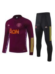 Спортивный костюм бордово-черный Манчестер Юнайтед