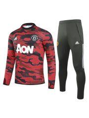 Спортивный костюм в стиле красный милитари Манчестер Юнайтед