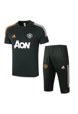 Мужской тренировочный костюм хаки ФК Манчестер Юнайтед с бриджами