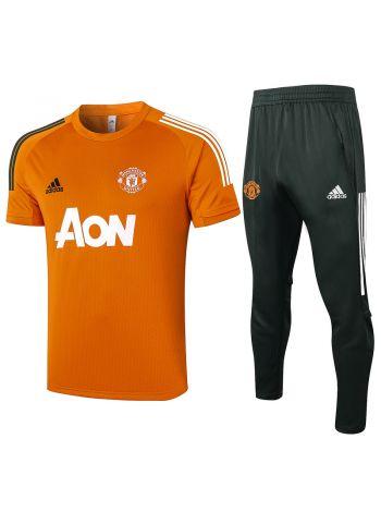 Мужской тренировочный костюм оранжевый-хаки ФК Манчестер Юнайтед