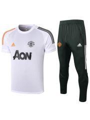 Мужской тренировочный костюм белый-хаки ФК Манчестер Юнайтед