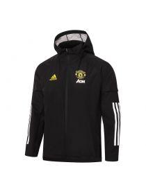 Мужская спортивная ветровка черная ФК Манчестер Юнайтед