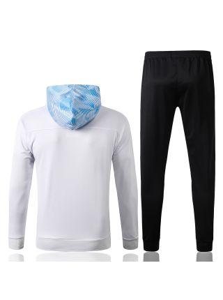 Спортивный костюм бело-черный Марсель с капюшоном
