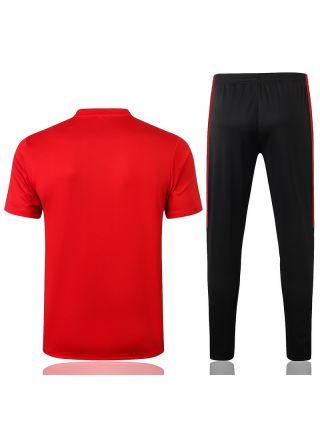 Мужской тренировочный костюм красно-черный ФК Милан